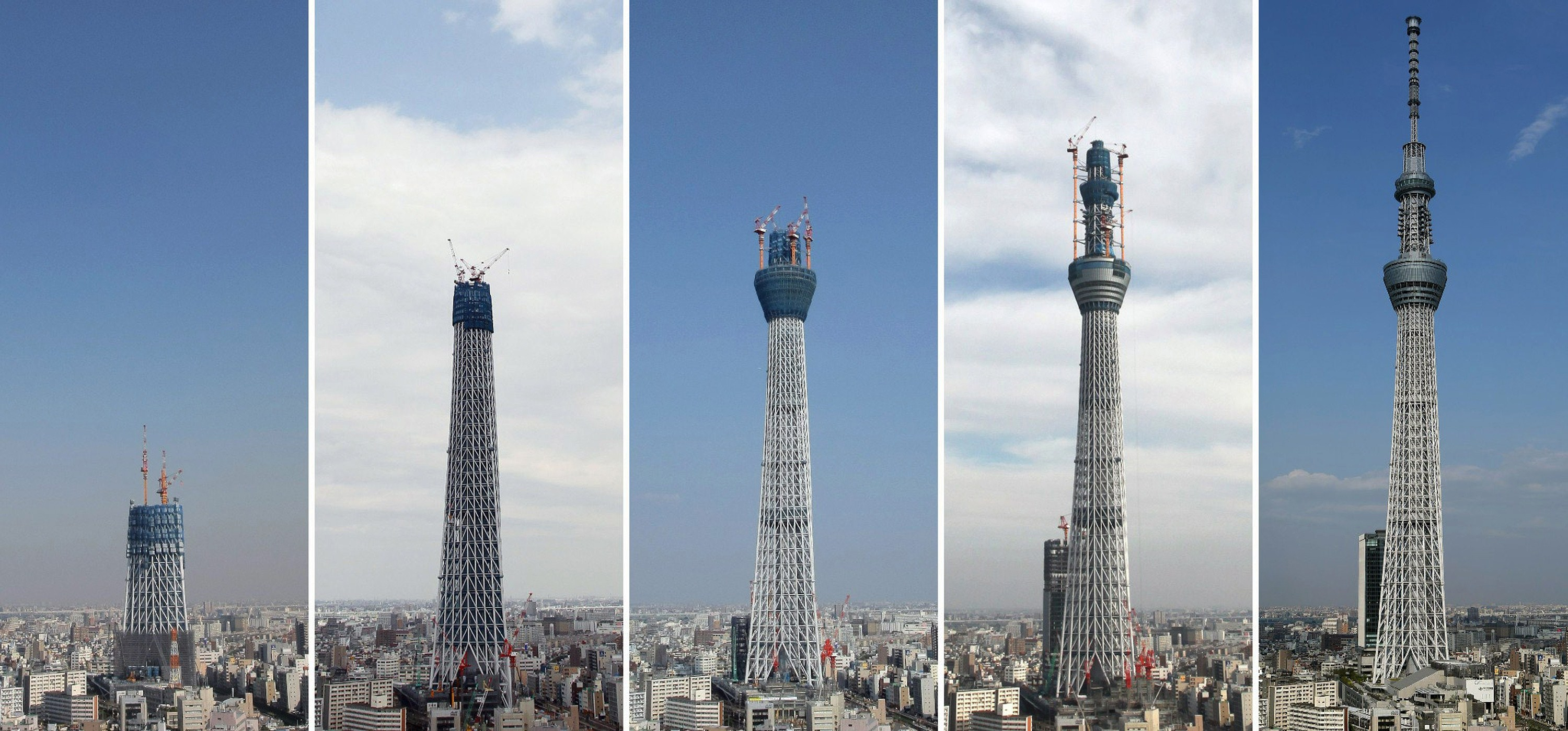 The world's tallest radio tower, the Tokyo Sky Tree in ...