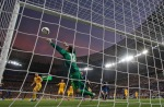 Ukraine goalkeeper Andriy Pyatov makes a save during the Euro 2012 soccer championship Group D match between Ukraine and France in Donetsk, Ukraine, Friday, June 15, 2012. (AP Photo/Matthias Schrader)