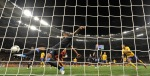 England's Glen Johnson fails to stop Sweden's first goal during the Euro 2012 soccer championship Group D match between Sweden and England in Kiev, Ukraine, Friday, June 15, 2012. (AP Photo/Martin Meissner)